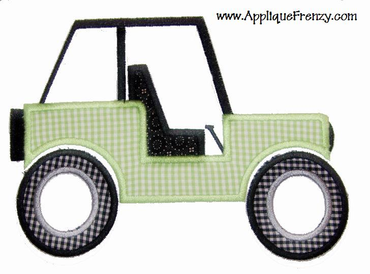 Jeep Applique Design-jeep, summer, sand, boys, girls