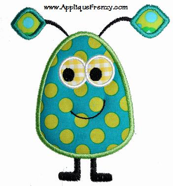 Alien Applique Design-alien