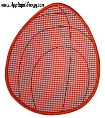 Basketball Easter Egg Applique Design-basketball, easter egg, egg hunt, easter boys