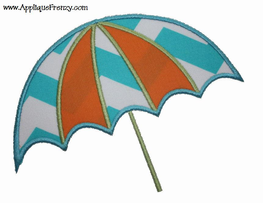 Beach Umbrella Applique Design-beach, summer, swim, pool, umbrella