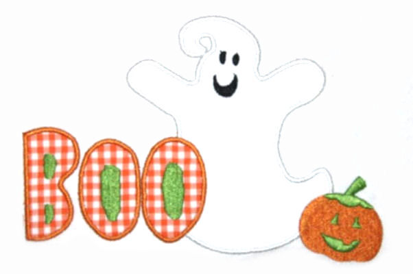 Boo Ghost Applique Design-halloween, fall, ghost, pumpkin, fall , harvest