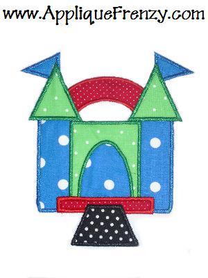 Bounce House Applique Design-bounce house , party