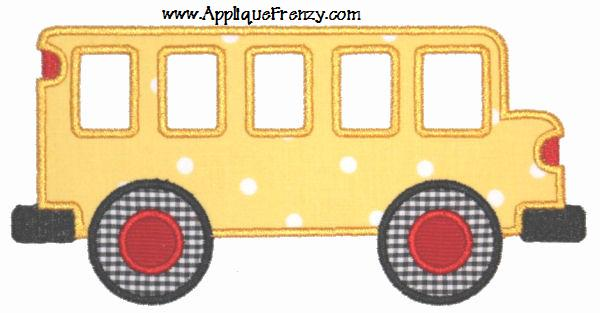 School Bus Applique Design-bus, school, fall, back to school, 1st day of school