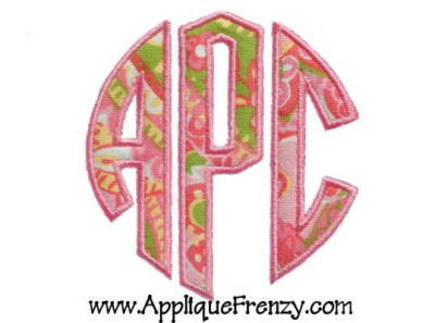 Circle Monogram Applique Font