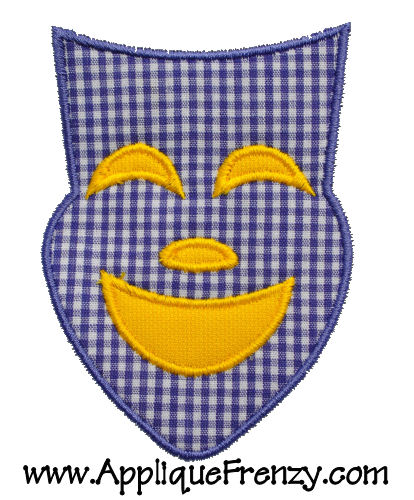 Comedy Mask Applique Design-mardi gras, mardigras, comedy, tragedy, mask, beads