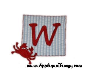 Crab Patch Applique Design-Crab patch, summer
