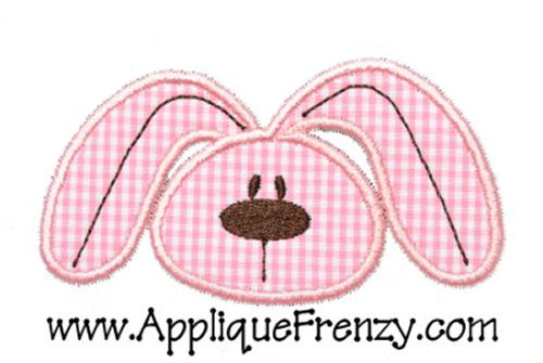 Cute Bunny Face Applique Design-cute bunny face, easter