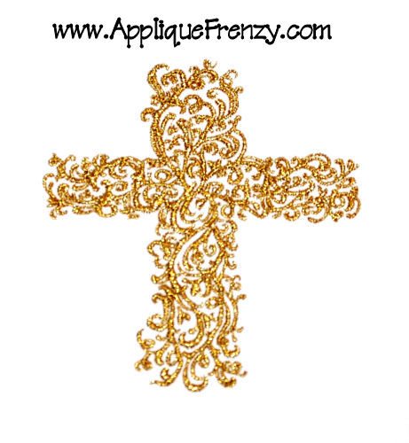 Decorative Cross Embroidery Design-cross, religious
