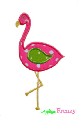 Flamingo Applique Design-flamingo, summer