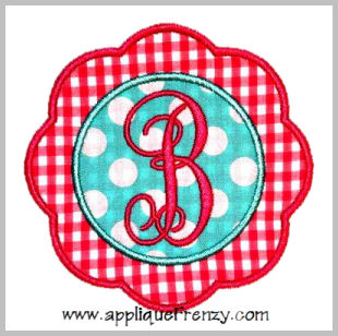 Scallop Flower Patch Applique Design-patch