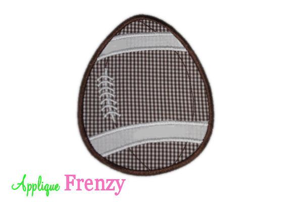 Football Easter Egg Applique Design-football, boy, easter, bunny , egg, egg hunt, easter egg