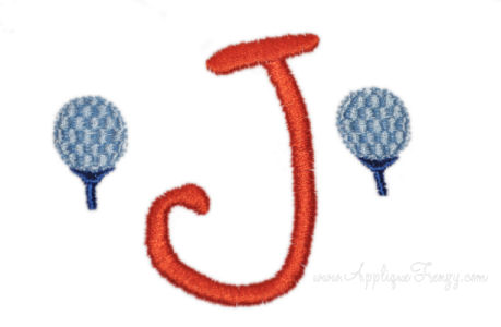 Golf Tee Alphabet Embroidery Design-GOLF, TEE, BOYS, SPORTS, MONOGRAM,