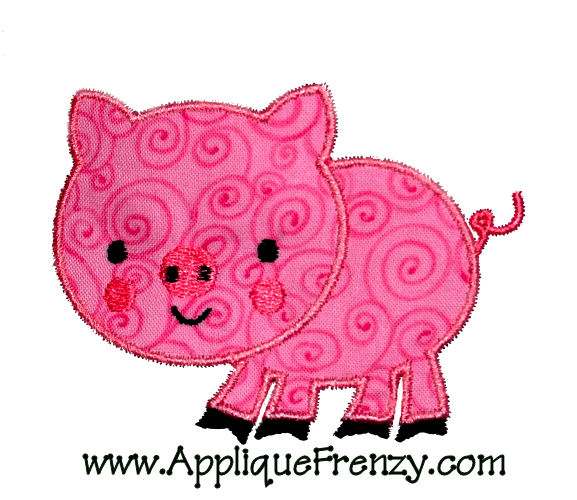 Pig Applique Design-pig, farm, sheep