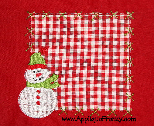 Snowman Patch Applique Design-snow man, snowman, snow, winter, christmas