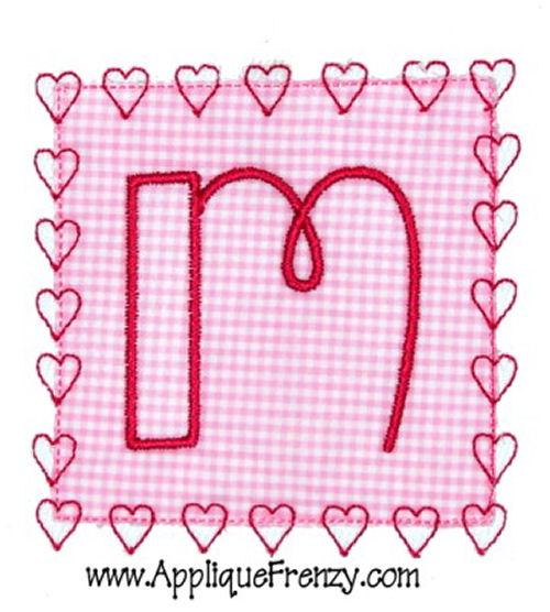 Square Patch HEART STITCH Applique Design-valentine, heart, hearts, love, patch