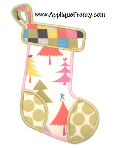 Christmas Stocking Applique Design-
