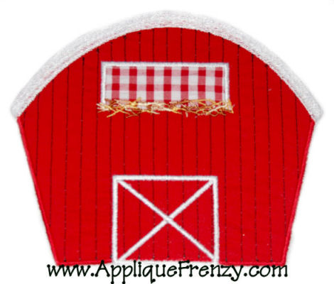 Barn Applique Design-barn, farm, animals