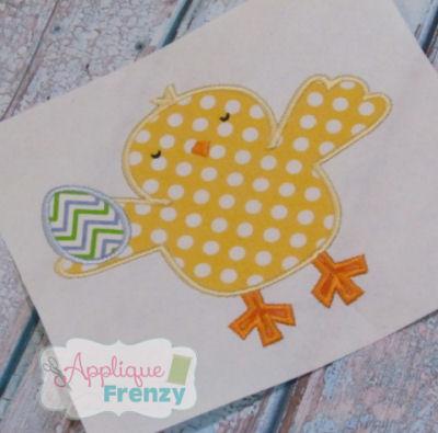 Chick Holding Egg Applique   Design-boy easter chick, girls easter, chick, egg