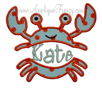 Crab Split Applique Design-