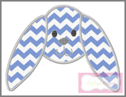 Droopy Ear Bunny Applique Design-