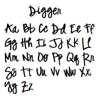 Digger Font-font