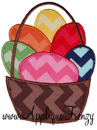Basket full of Eggs Applique Design-