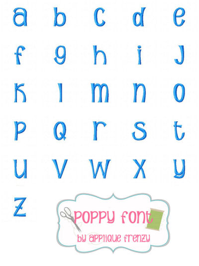 Poppy Embroidery Font-
