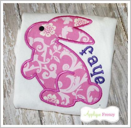 Hoppy the Bunny Applique Design-chocolate bunny, rabbit, bunny,easter