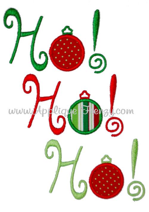 Ho Ho Ho Ornament Applique Design-ornament, christmans, embroidery, applique, christmas, ribbon, ho ho ho, santa