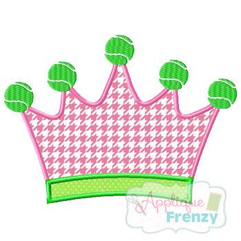 Queen of the Court-TENNIS Applique Design-tennis, queen of court, princess tennis
