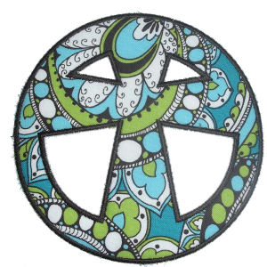 Real Peace Applique Design-real peace, peace sign, cross, christian, religious, easter