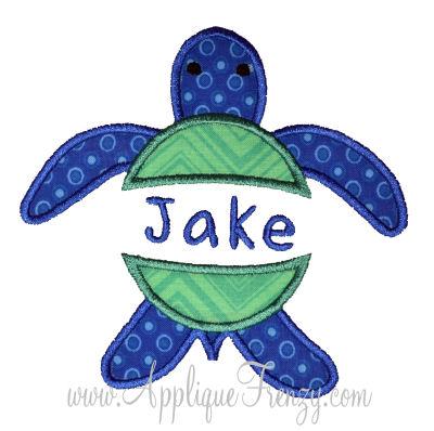 Sea Turtle Split Applique Design-