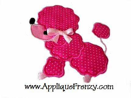 Poodle Applique Design-dog, poodle, prissy,paris, girl, girly