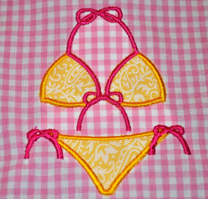 Bikini Applique Design-beach, summer, pool, bikini, swimsuit, swim