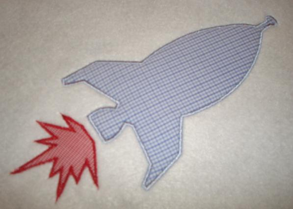 Rocket  Applique Design-rocket, space ship, astronaut