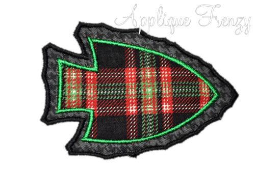 Arrowhead Applique Design-indians, braves, seminoles, arrow, tomahawk