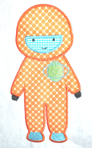 Astronaut Applique Design-astronaut, space, alien, spaceship