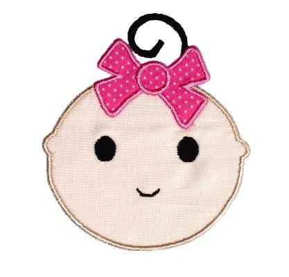 Baby Girl Applique Design-baby girl, girl, face