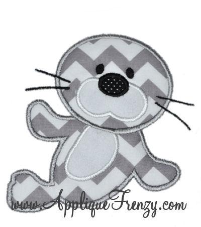 Baby Seal Applique Design-