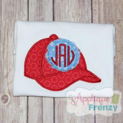 Baseball Cap Applique Design-