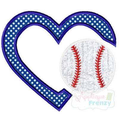 Baseball Heart Applique Design-baseball, i love baseball, diamond, base, heart, i heart baseball