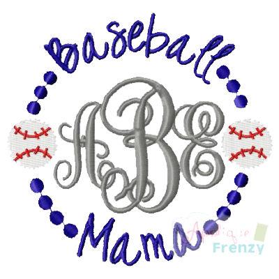 Baseball Mama Emroidery-baseball mom, baseball momma, baseball, spring sport