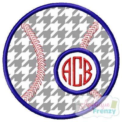 Baseball 2 Applique Design-baseball monogram, baseball, baseball girl, baseball mom