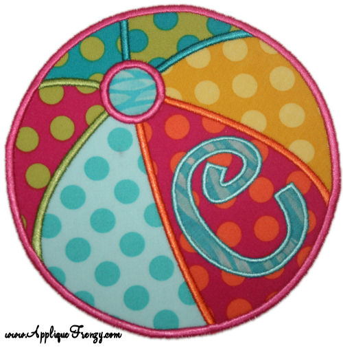 Beach Ball Applique Designs-