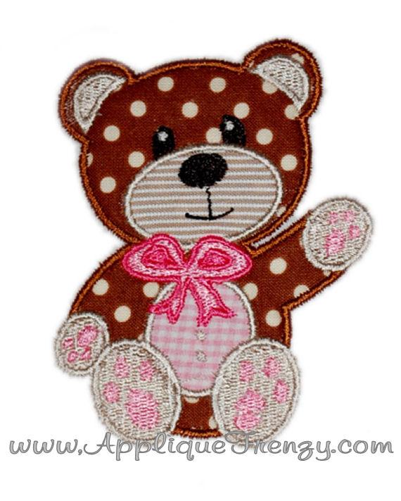 Teddy Bear Applique Design-