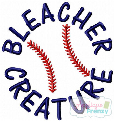 Bleacher Creature Baseball Embroidery Design-baseball, championships, base, diamond
