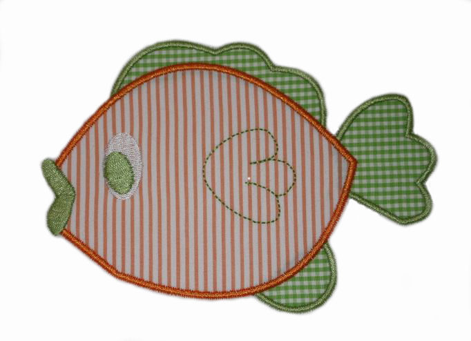 Fish Applique Design-fish, sea life, animal, summer, beach