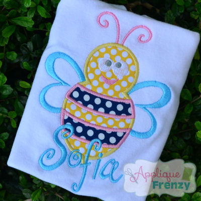 Bumble Bee J14 Applique Design-