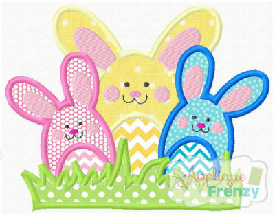 Bunch O' Bunnies Applique Design-
