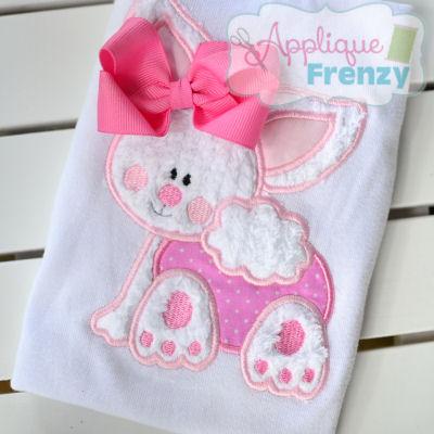 Bunny Crawling Applique Design-